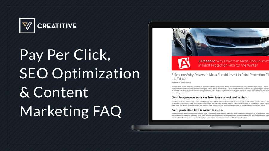 Pay-Per-Click, SEO Optimization-&-Content Marketing FAQ